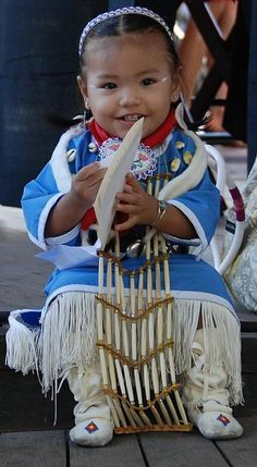 Baby American Indian dancer, USA.
