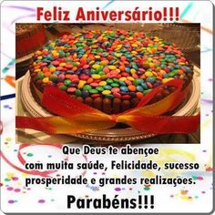 Que Deu te abençoe com muita saúde | Bolo de Aniversário #felicidades #feliz_aniversario #parabéns