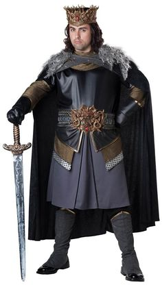 Men's Medieval King Costume X-Large Size: Xl. Men's Medieval King Costume X-Large Size: XL Multicolored King Arthur Costume, King Costume, Adult Costumes, Costumes For Women, Halloween Costumes, Halloween Ideas, Spirit Halloween, Moda Medieval, Medieval Life