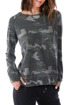 RAGDOLL Ragdoll Distressed Camo Sweatshirt available at efc66e96f4