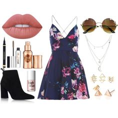 Untitled #68 by aly267 on Polyvore featuring polyvore, мода, style, AX Paris, Stuart Weitzman, Charlotte Russe, Lime Crime, Benefit, Yves Saint Laurent and fashion