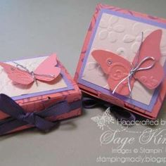 Don't you love these Bitty Boxes dressed up with the Envelope Die from Stampin' Up!?  Put something sweet in them for your favorite Valentine.  www.stampingmadly.com