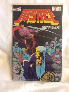 Justice (Marvel Jun) #20 Seraph Stalks! Marvel New Universe Comic Book