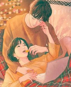 Ideas for drawing anime couples beautiful - picart♡ - Anime Couple Amour Anime, Anime Love Couple, Couple Cartoon, Romantic Anime Couples, Anime Couples Drawings, Cute Anime Couples, Anime Couples Cuddling, Paar Illustration, Couple Illustration