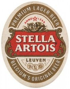 Cerveja Stella Artois bolacha de chopp