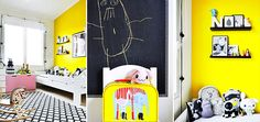 Wonderful Children's room in yellow and pink