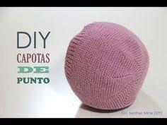 DIY Como hacer capotas de punto para bebés modelo 1 (patrón gratis) - YouTube
