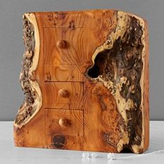 one-off yew 3 drawer jewellery box by dave mckeen