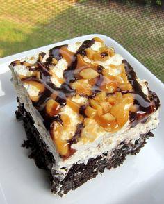 Snickers Cake-best cake ever!!