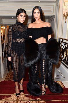 Kourtney Kardashian and Kim Kardashian West attend Buro 24/7 Fashion Forward Initiative as part  of Paris Fashion Week Womenswear Spring/Summer 2016 at Hotel Ritz on September 30, 2016 in Paris, France.