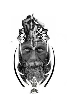 Bholenath Tattoo, Yogi Tattoo, Mantra Tattoo, God Tattoos, Warrior Tattoos, Lotus Tattoo, Tatoo Designs, Tattoo Sleeve Designs, Sleeve Tattoos