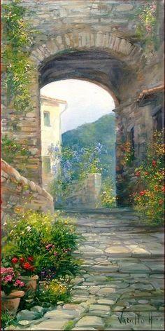 Original painting of Antonietta Varallo (ITALY)Oil on canvas 20 x 40 cm - x  inWorldwide shipment by Fedexwww.modiarte.itmanuel@modiarte.