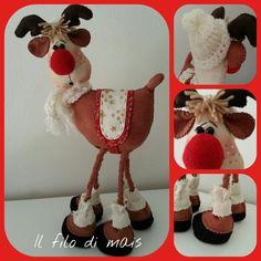 La renna di Babbo Natale http://ilfilodimais.blogspot.it/2013/09/la-renna-di-babbo-natale.html