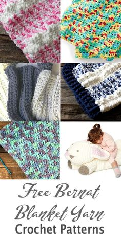 bernat blanket yarn crochet Patterns - blanket yarn patterns crochet chunky free 25 Bernat Blanket Yarn Crochet Patterns – Bulky Yarn - A More Crafty Life Bernat Chunky Yarn, Bernat Baby Yarn, Chunky Crochet, Crochet Yarn, Crochet Blankets, Baby Blankets, Crotchet, Easy Crochet, Crochet Stitches