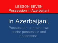 Ten Azerbaijani Language Lessons