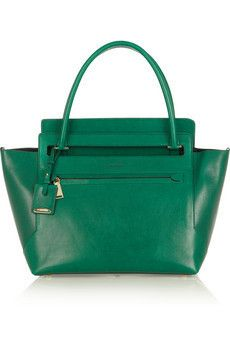 JIL SANDER Emerald Leather New Malavoglia Bag