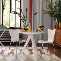Tripod Table | west elm   I want to make a version of this for a little patio bistro table...