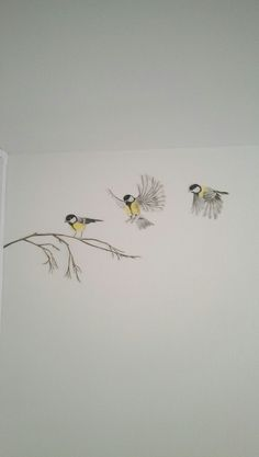 The great tit wall painting decoration