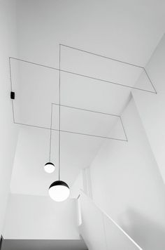 A play of graceful light overhead, Flos String Lights Cone by Michael Anastassiades adds a streamlined sophistication to your home or office. Explore String Pendant Lights at the official FLOS USA website. Interior Lighting, Home Lighting, Modern Lighting, Lighting Design, Pendant Lighting, Pendant Lamp, Lighting Ideas, High Ceiling Lighting, Stairway Lighting