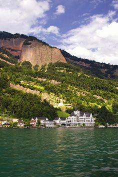 Vitznau, at the foot of the Rigi, Switzerland. Took a boat ride by here.