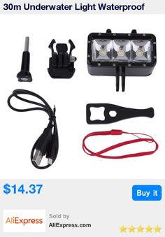 30m Underwater Light Waterproof Diving LED Video Spot Light  Lamp Mount Buckle Screw Strape Kit For GoPro Hero 4 3+ 3 Xiaomi Yi * Pub Date: 16:41 Apr 11 2017