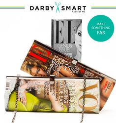 A Few Thoughts on Craft Stores and the Internet + DIY Magazine Clutch Diy Craft Projects, Diy Crafts, Diy Clothes And Shoes, Darby Smart, Diy Clutch, Magazine Crafts, Idee Diy, Diy Supplies, Diy Kits