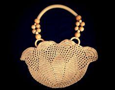 Crochet Handbag - Evening Bag - Handmade Crochet Bag - Fancy Bag - Crochet Wristlet - Golden Handbag - Crochet Party Bag - Wedding Bag by CrochetBarnHandmade on Etsy