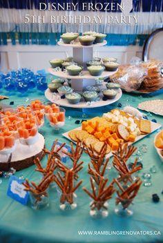 disney frozen birthday party theme table setting