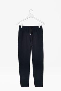 Twill drawstring trousers