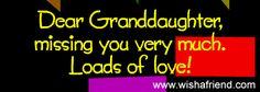 missing you granddaughter poems | Grandchildren Pictures for Facebook, Grandchildren Graphics for ...