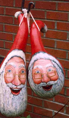 How to paint christmas gourds