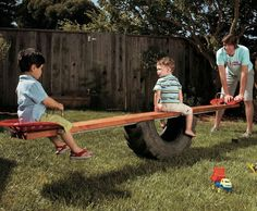 homemade teeter totter