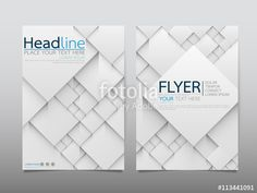 """Download the royalty-free vector """"White square business technology annual report brochure flyer design template vector, Leaflet cover presentation abstract geometric background, modern publication poster magazine, layout in A4 size"""" designed by Palm Palmish at the lowest price on Fotolia.com. Browse our cheap image bank online to find the perfect stock vector for your marketing projects!"""