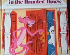 PINK PANTHER Haunted House vintage Little Golden Book 1975 printed very good vintage children book https://www.etsy.com/listing/192722819/pink-panther-haunted-house-vintage?ref=market $5.35