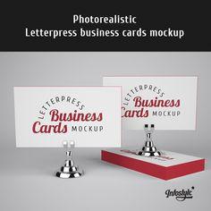 Letterpress Business Card Mockup by itembridge, via Flickr