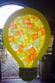 Genesis VBS craft with construction paper, tissue paper scraps, waxed paper and glue . Maybe do a hot air balloon like this Vbs Crafts, Church Crafts, Camping Crafts, Preschool Crafts, Crafts For Kids, Catholic Crafts, Felt Crafts, Bible Story Crafts, Bible School Crafts