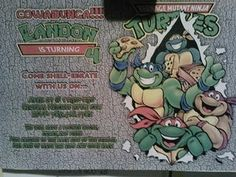 1000 Images About Tmnt Party On Pinterest Tmnt Teenage