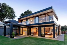 Terrific Modern House Exterior Modern House Design Modern House Plans Exterior Modern Family House Exterior Paint Colors – 2018 Exterior Home Design Best Modern House Design, Modern House Plans, Modern House Styles, Modern Glass House, Modern Exterior House Designs, Stommel Haus, New Zealand Houses, Casas Containers, Luxury Homes Dream Houses