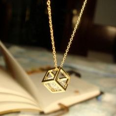 $4.72 OL Style Cube Gold-Plated Short Alloy Women's Necklace