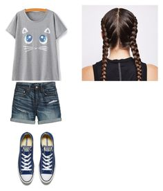 Meow by rfaber on Polyvore featuring Canvas by Lands' End and Converse
