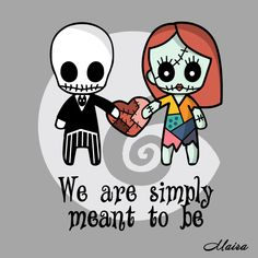 Jack and Sally - We are simply meant to be Throw Pillow by Maira Artwork - Cover x with pillow insert - Indoor Pillow Mister Jack, Voodoo Doll Tattoo, Voodoo Dolls, Jack Y Sally, Desenhos Halloween, Moldes Halloween, Sally Nightmare Before Christmas, Christmas Svg, Christmas Tattoo