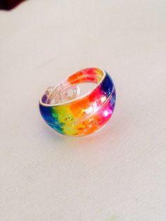 アクセサリー:ワイヤーとレジンで指輪