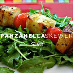 Panzanella Skewer Salad   Life, Love, and Good Food #recipe #healthy #tomatoes