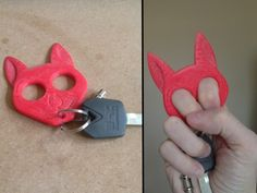 This cute keychain is a way to feel just a little more confident when walking to your car in a bad part of town. My mother asked me to create one of these for her, as she feels safer when she has it in her purse.  Now you can too!