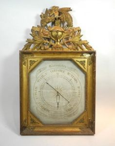 Carved frame for French barometer Antique Clocks, Antique Gold, Antique Boxes, French Clock, Country Interior Design, French Country Decorating, Country French, French Antiques, Antique Furniture