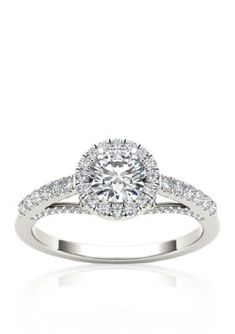 Belk  Co.  34 ct.t.w. Halo Diamond Engagement Ring in 14k White Gold