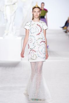 Dress over skirt  Giambattista Valli Fall 2013 Couture Collection Slideshow on Style.com