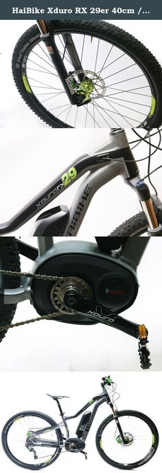 """HaiBike Xduro RX 29er 40cm / 15.8"""" 350W Electric MTB E-Bike Shimano SLX 10s NEW. HAIBIKE XDURO RX 29ER E-BIKE NEW IN BOX / MSRP $3999 / MOSTLY ASSEMBLED! / SHIPS IN 24HRS SPECIFICATIONS: Frame: Xduro Alu 6061 hardtail, 29"""" Size: See title. HaiBike sizes theirs metrically. We've converted the size into inches for your convenience. Motor: Bosch Centerdrive, 350W Range: 25-35 miles with normal pedaling Display: Bosch Intuvia LCD multi function display with variable boost modes and other..."""