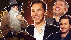 Hobbit 2- Benedict CUMBERBATCH, Martin FREEMAN, Richard ARMITAGE meet DA... Very funny interview!