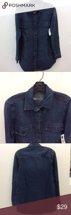 NWT GAP Men's Jeans Button Down Shirt sz M New with tags/ perfect condition GAP Shirts